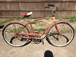 1ceb5dc8cba Image is loading Vintage-40s-50s-Schwinn-Typhoon-Bicycle-Original-Paint-