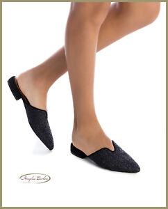 Sabot da donna a punta con tacco basso scarpe estive pantofole eleganti sandali