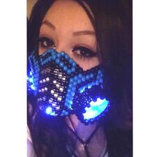 Sub Zero Gas Mask Kandi rave EDC LED Light up Gas Mask EDM costume cosplay