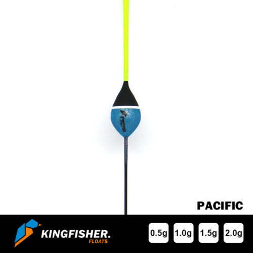 """POLE FISHING FLOATS The Kingfisher /""""Pacific/"""" Pack of 4 HIGH QUALITY"""