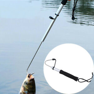 Telescopic Retractable Fish Gaff Stainless Ice Sea Fishing Spear Hook Tackle Fun