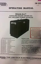 Lincoln Sa 300 Dc Welder Operating Parts Service Repair Manual Pipeliner Engine