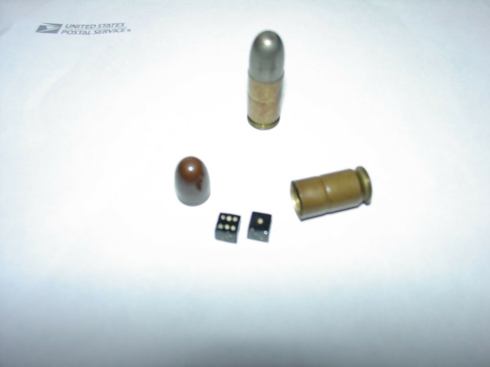 45 cal. Bullet with Dice inside