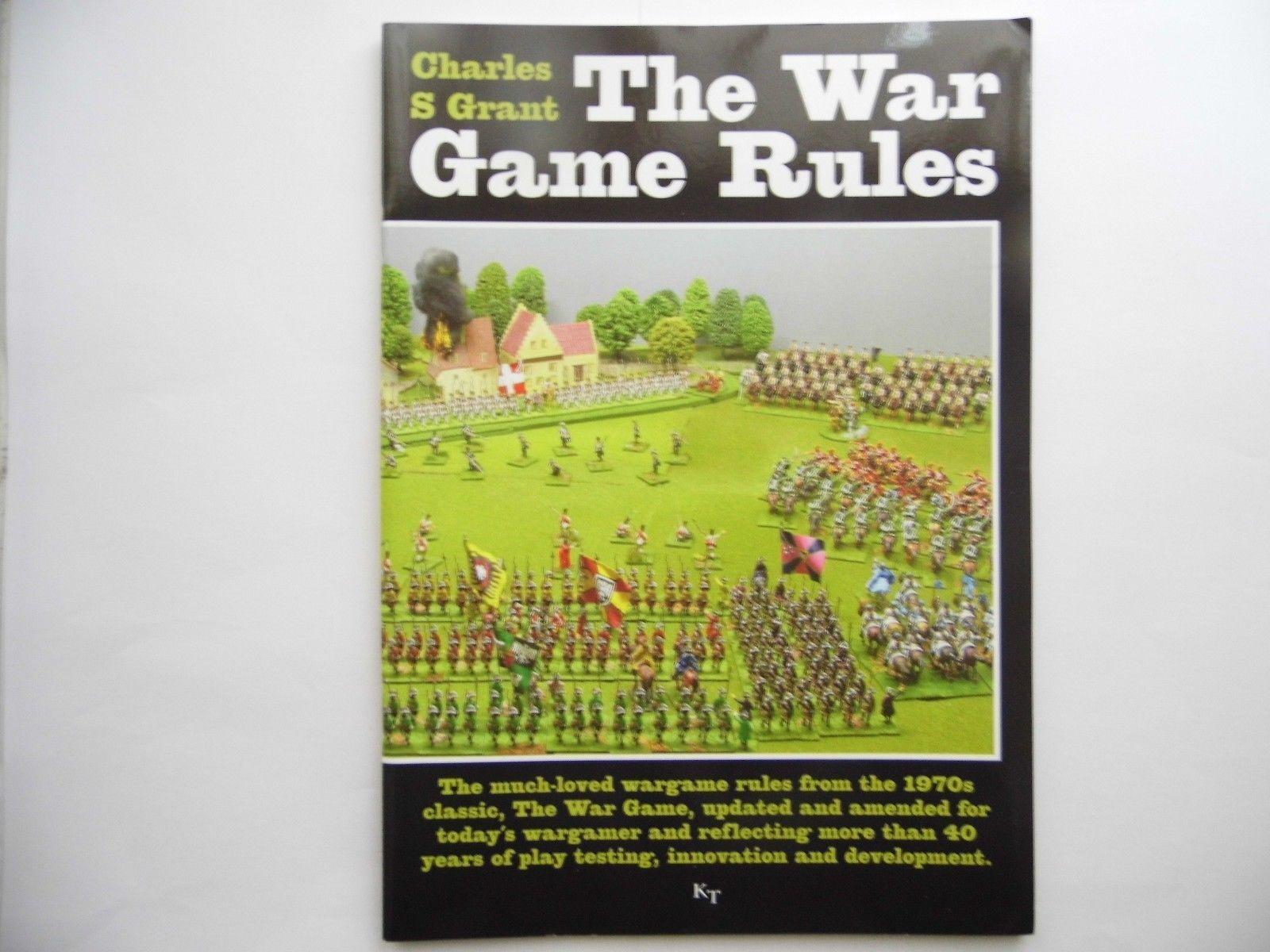 The War Jeu Règles - Charles Grant - Ken Tredman - Envoyé 1ST Classe - Nouveau