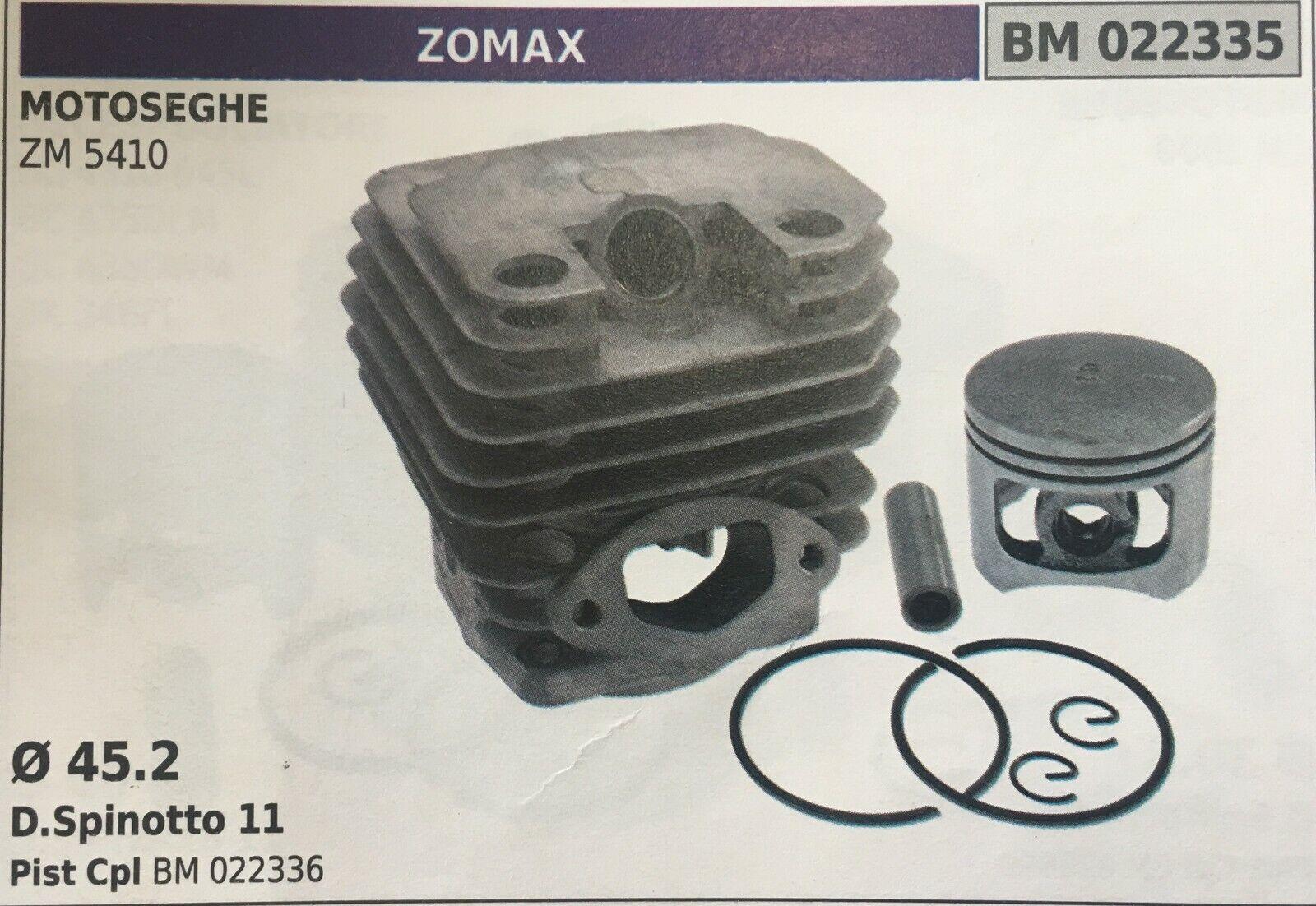 Cilindro Completo por Pistón y Segmentos Brumar BM022335 Motosierra Zomax