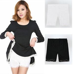 summer grils womens sweet lace trim short tights black pants elegant ebay. Black Bedroom Furniture Sets. Home Design Ideas