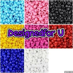 3-FOR-2-100-9x6mm-Opaque-Barrel-Highest-Quality-Pony-Beads