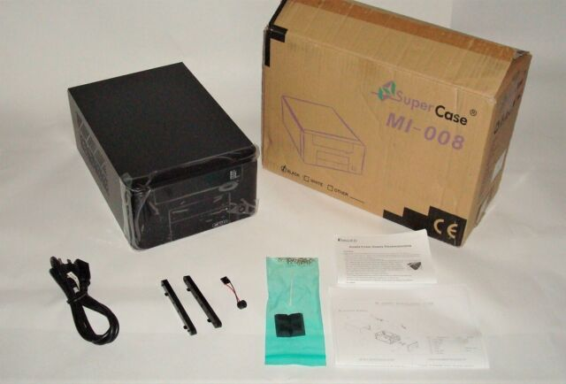 APEX MI Series MI-008 Black Steel Mini-ITX Tower Computer Case 250W Power Supply