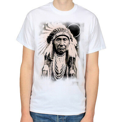 NATIVE AMERICAN INDIAN CHIEF HISTORY ILLUMINATI HIPSTER SCENE T-SHIRT TEE