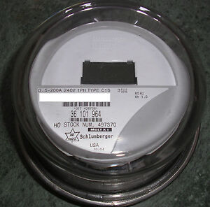 ITRON-WATTHOUR-METER-KWH-C1S-CENTRON-240-VOLTS-FM2S-200-AMPS-4-LUGS