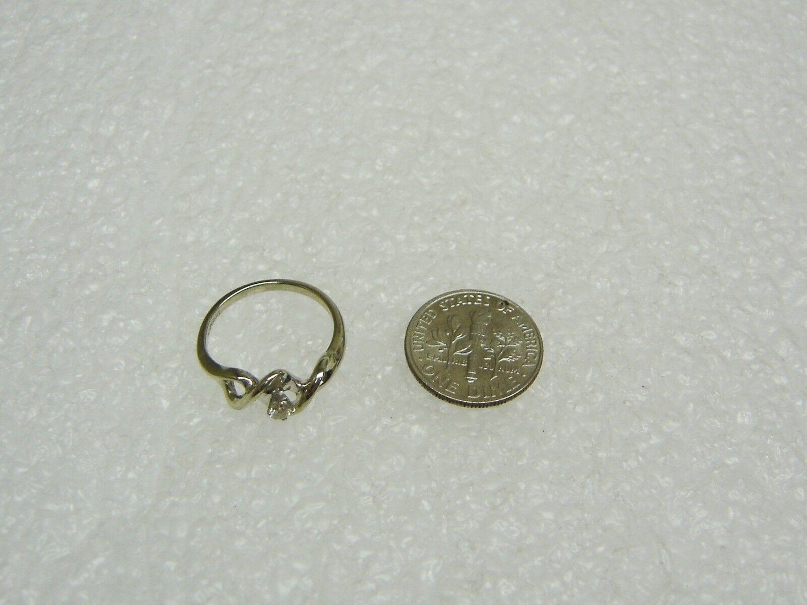 10k oro Bianco Massiccio Anello Diamante Misura Misura Misura 5 1 2 ec5526