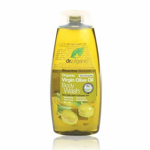 3 x 250ml DR ORGANIC Virgin Olive Oil BODY WASH