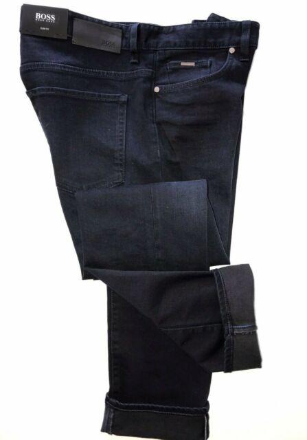 NWT $165 Hugo Boss Mens Orange71 Blue Cotton Slim Fit  Jeans Pants Size 38//34