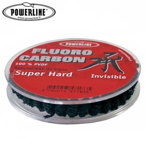 PORT GRATIS 50 m FIL PECHE FLUOROCARBONE POWERLINE SUPER HARD PVDF  60/100