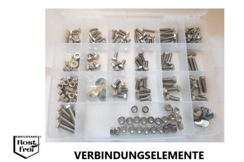 """5//16/""""-3//8/"""" versandkostenfrei UNC Sechskant Zollschrauben Set 300 Teile 1//4/"""""""