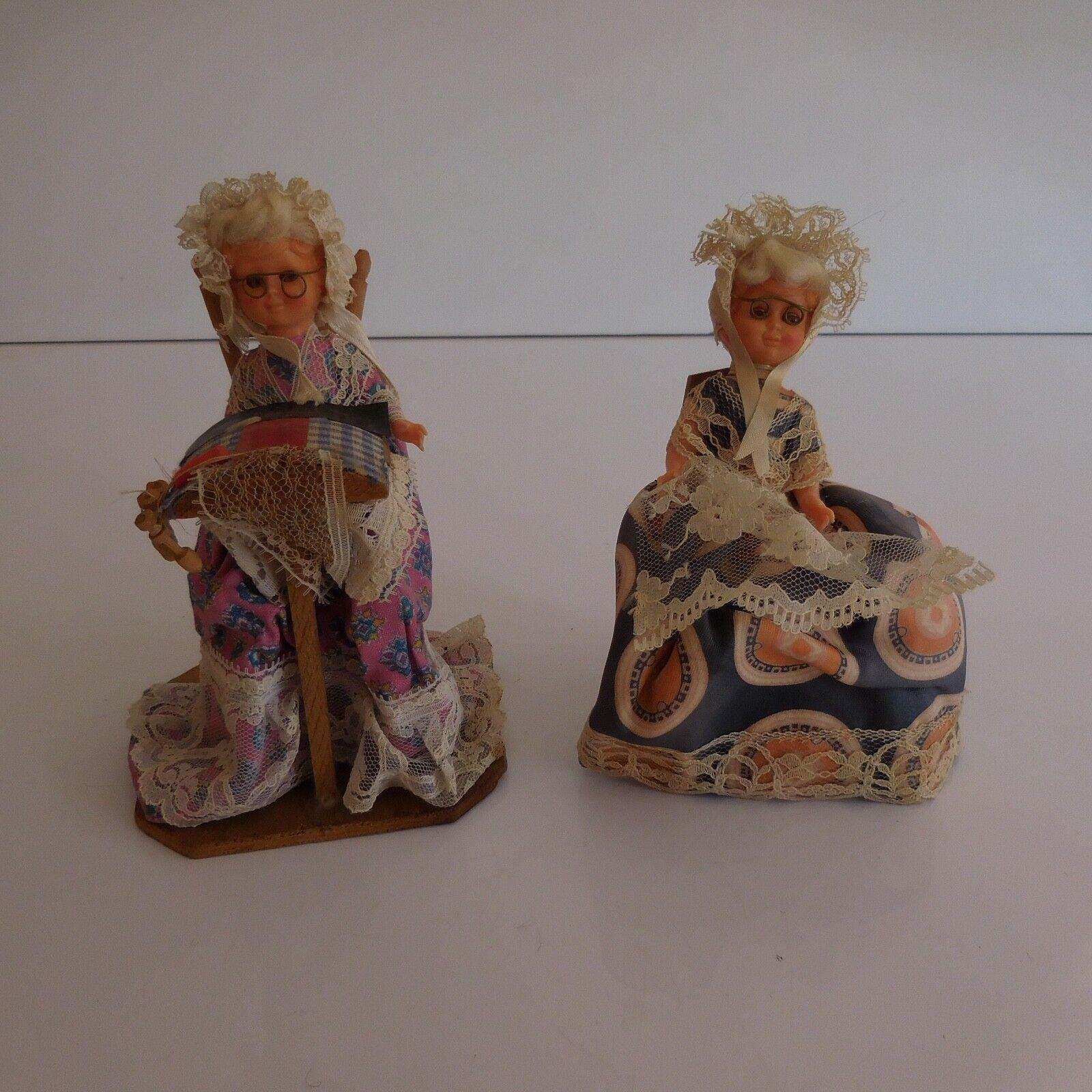 2 personnages poupées collection costume Vieille tradition folklorique fait main