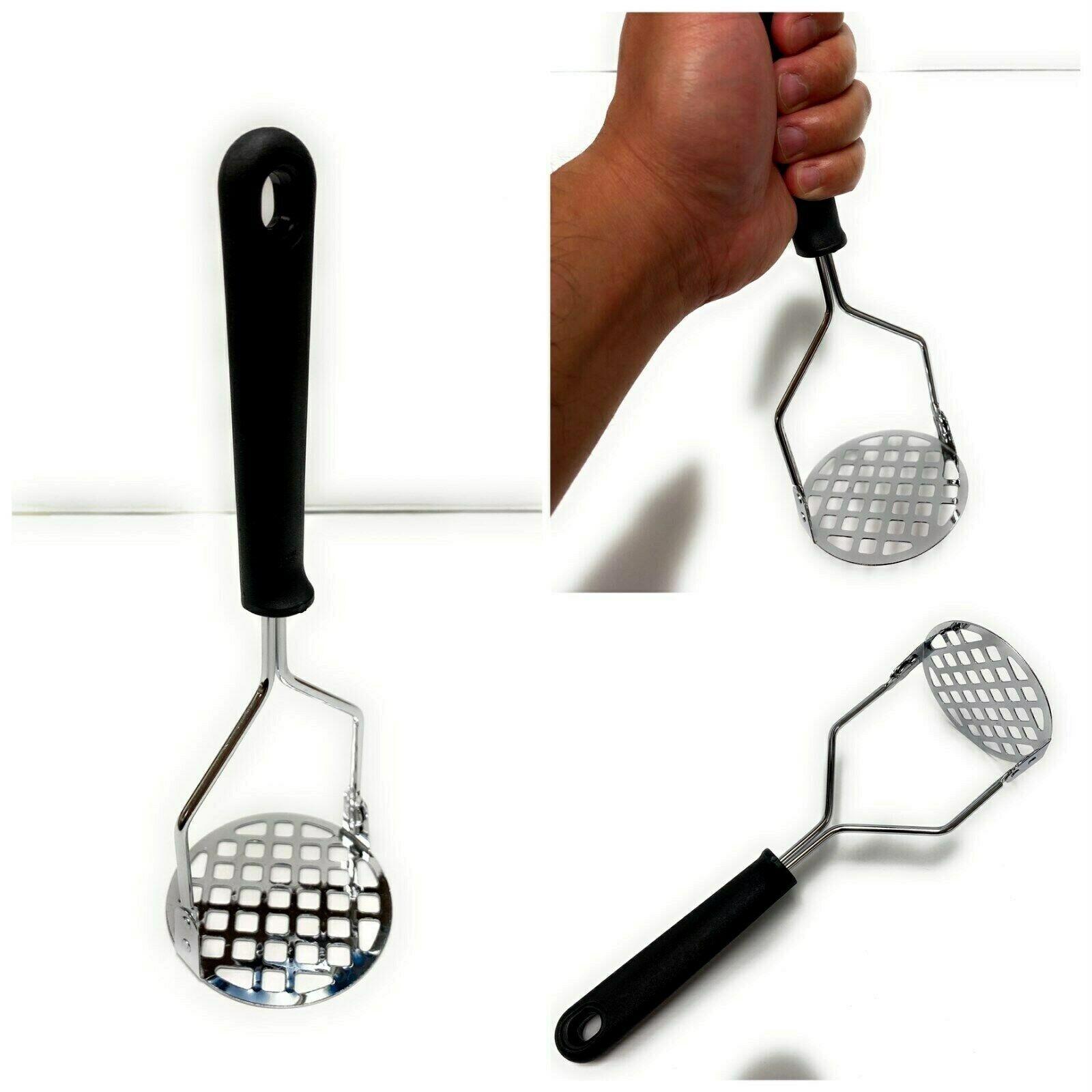 Oval Stainless Steel Potato Ricer Masher Kitchen Utensil Handheld Press Tool