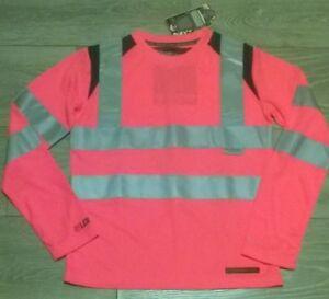 polo shirt top Hi viz vis PINK Horse riding Rockfish Girls Equestrian cycling