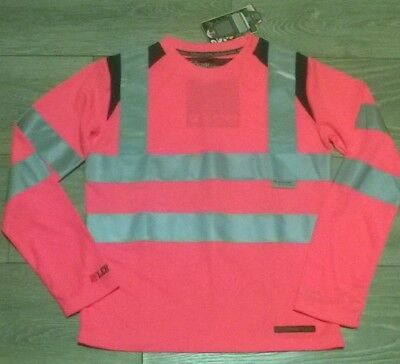 Premuroso Bambini Equitazione A Manica Lunga T Shirt Top Rosa Hi Viz Vis Equitazione Rockfish-mostra Il Titolo Originale