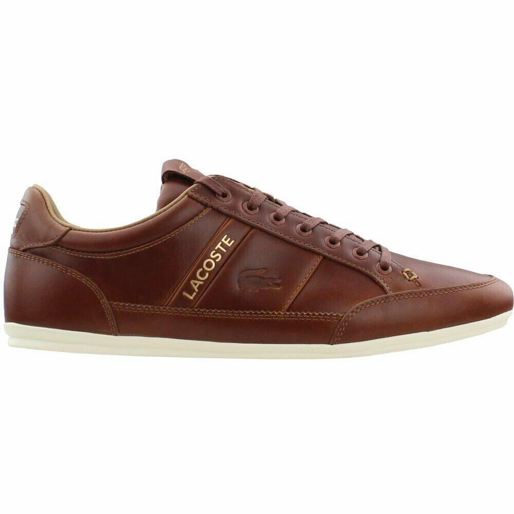 Lacoste Chaymon 119 Hombre Cuero Tostado Informal Tenis Zapatos 7-37CMA0075AD6