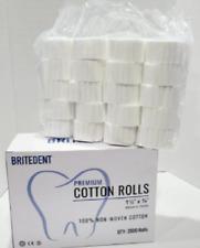 4000 Pcs Dental Gauze Cotton Rolls 1 12 X 38 2 Medium