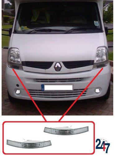 Nuevo Renault Master 2003-2010 frontal transparente Izquierda Derecha Par Indicador de Señal de Vuelta