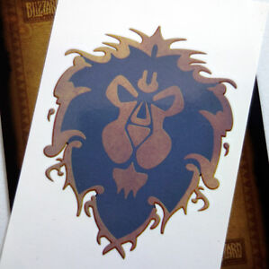 Blizzard World Of Warcraft Official Temporary Alliance Tattoo 10th
