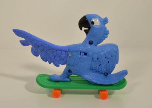 "2011 Blu Blue Macaw Bird Skateboard 5/"" McDonald/'s Action Figure #1 Rio Movie"