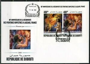 DJIBOUTI-2020-80th-DISCOVERY-ANN-LASCAUX-CAVE-PAINTINGS-SHEET-FDC