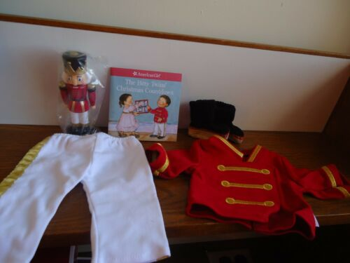 NIB American Girl Bitty Baby Twin Toy Soldier Pajama Set Slippers Book PJs