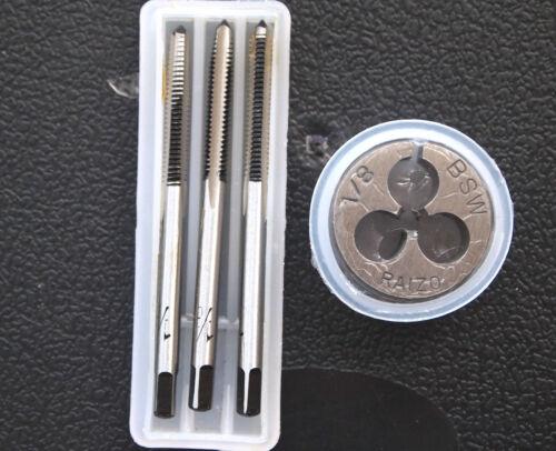 BSW TAPS DIE SET 1//8 x 40 TPI plug conique seconde