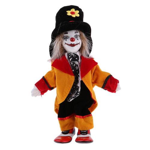 Vintage Hand Painted Porcelain Clown Doll Ceramic Clown Dolls Decoration #2