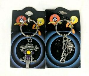 Taz Tasmanian Devil Charm Keychain Warner Bros Vintage Keyring Looney Tunes