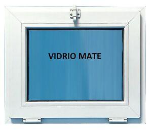 Ventana Pvc Baño 600x500 Abatible (Golpete) Vidrio Climalit Mate Carglas
