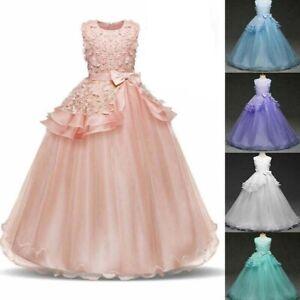 Kid-Girl-Flower-Dress-Princess-Party-Wedding-Bridesmaid-Formal-Gown-Long-Dresses