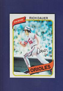 Rich-Dauer-1980-TOPPS-Baseball-102-NM-Baltimore-Orioles