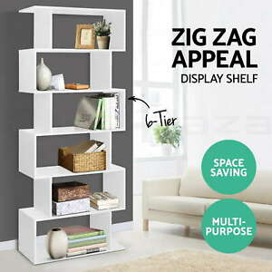 6 Tier Display Cabinet Bookcase Display Shelf Storage Cabinet shelves Display