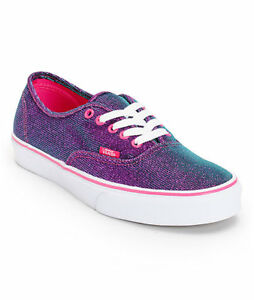 VANS-Authentic-MAGENTA-SHIMMER-Womens-Shoes-NEW-Purple-Pink-Sparkle-FREE-SHIP