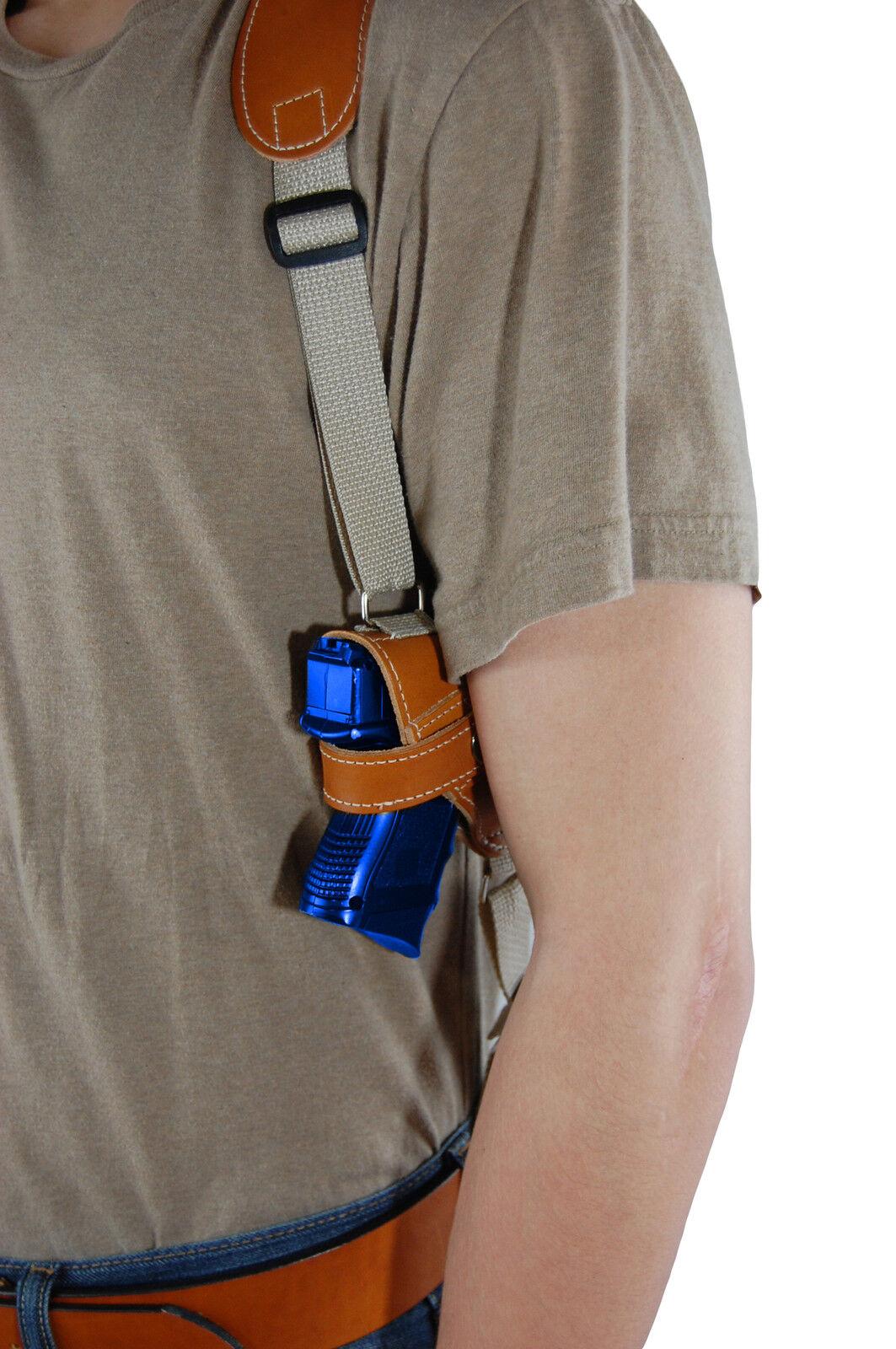 NEW Barsony Tan Leder Horizontal Shoulder Holster Holster Holster for S&W M&P Shield w/ LASER 243ba4