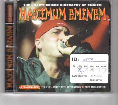 1 of 1 - (HP803) Maximum Eminem, The Unauthorised Biography of Eminem - 2000 CD