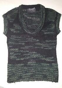 a07f7f8cdbb5d1 Das Bild wird geladen Strenesse-Damen-Pullunder-gr-S-schwarz-gruen-top