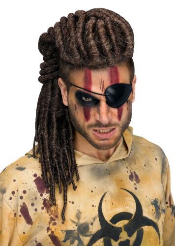 Adult Deluxe Dread Mohawk Warrior Wig Cosplay Halloween Costume Accessory