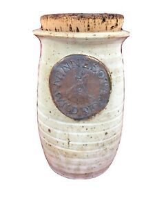 Minnesota-Wild-Rice-Canister-Stoneware-With-Cork-Top