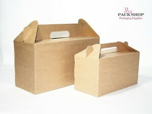 Details About Brown Gable Christmas Gift Boxes Bulk Wholesale Kraft Wedding Party Birthday Box