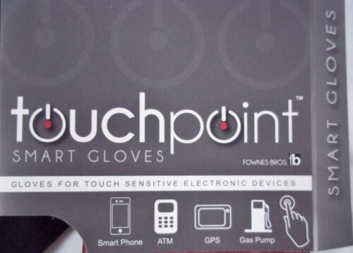 Touchpoint Smart Gloves Leather Use With Electronic Devices by Fownes Bros NWT