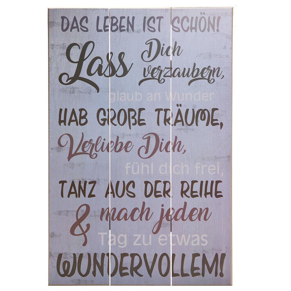 Shabby Vintage Holz Bild Schild Wandschild Holztafel Dekoschild Spruch 750721