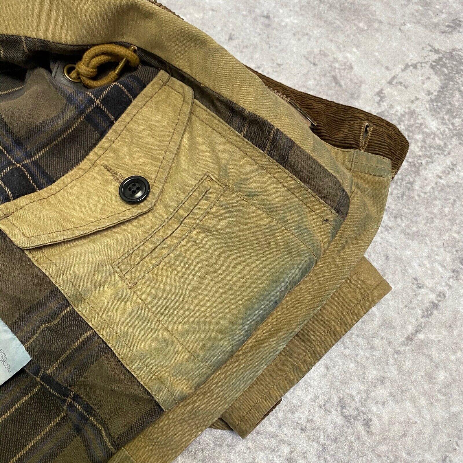 J.Crew Field Jacket Size XS Brown Wax Distressed - image 8