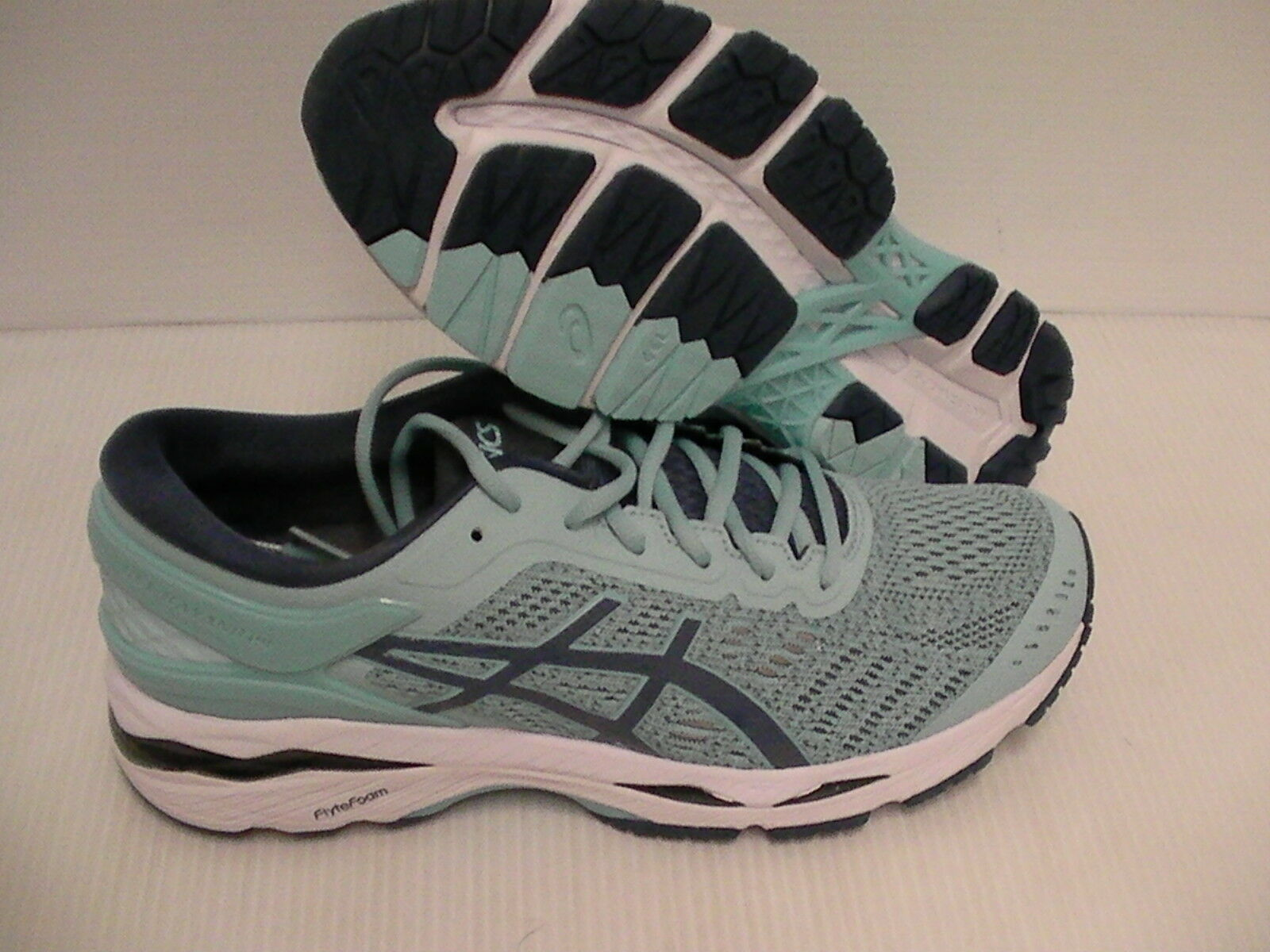 Women's asics gel kayano 24 running shoes porcelain blue smoke blue size 10 us