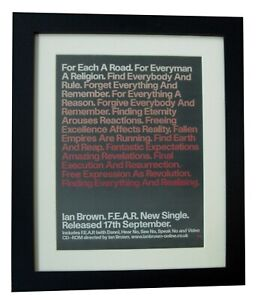 IAN-BROWN-FEAR-POSTER-AD-RARE-ORIGINAL-2001-TOP-QUALITY-FRAMED-FAST-GLOBAL-SHIP