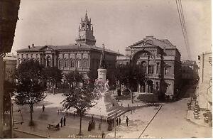 Francia Avignon Posto Di L' Host Di Città Albumina Vintage Ca 1890